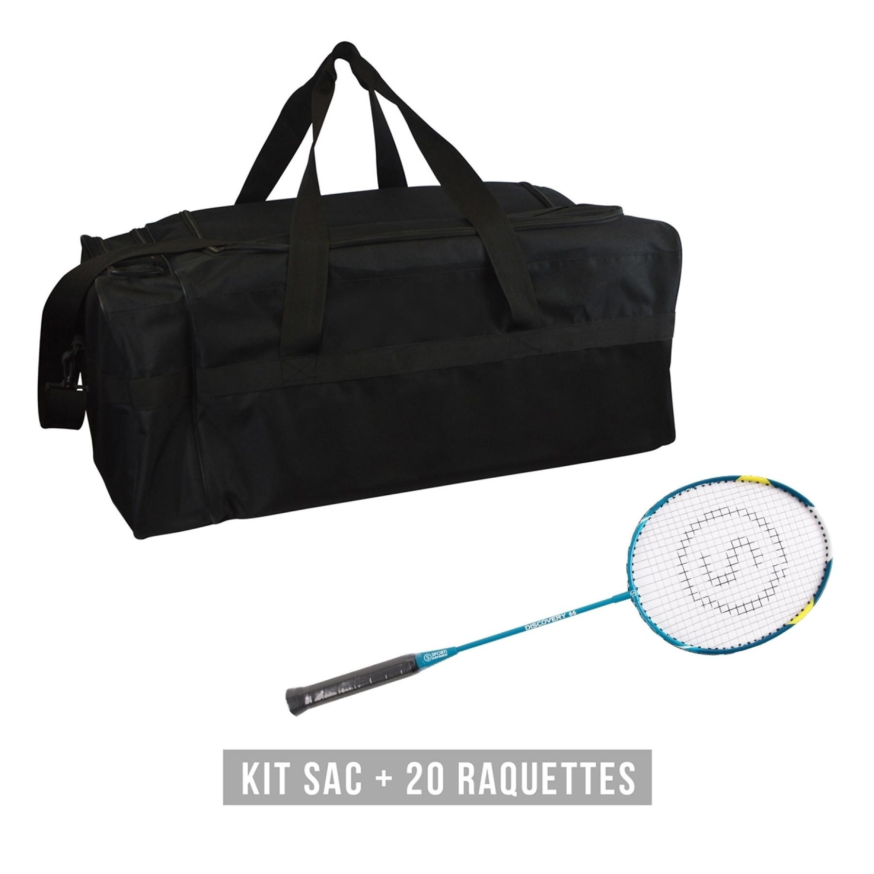 Racquet kit (bag + 20 racquets) Sporti France Discovery 66