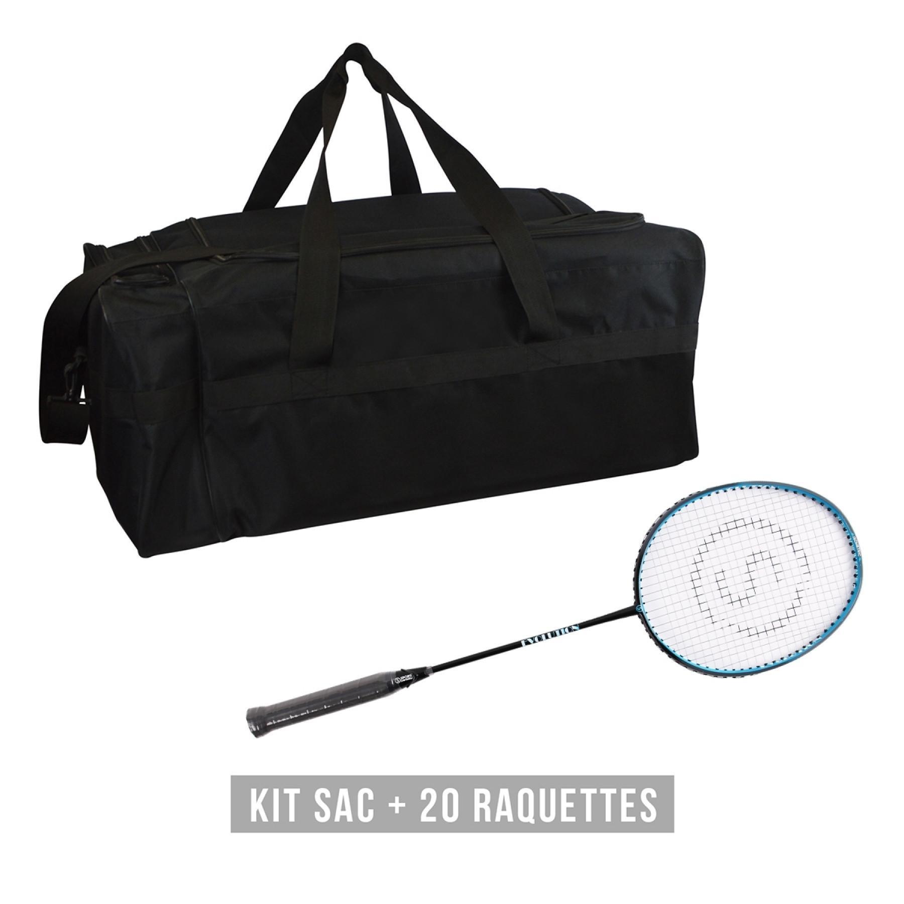 Racquet kit (bag + 20 racquets) Sporti France Evolution