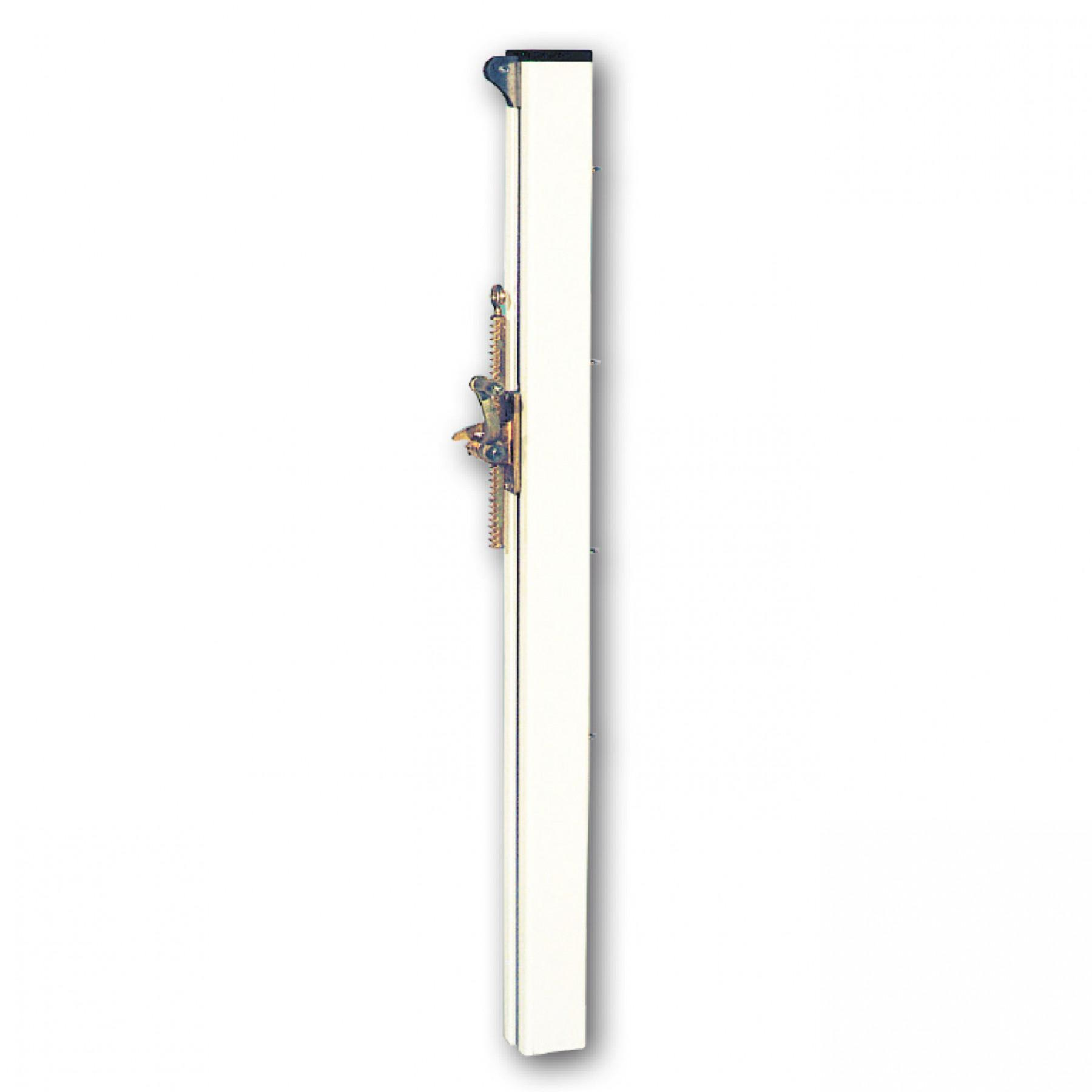Pair of square aluminium tennis posts without sleeves Sporti France