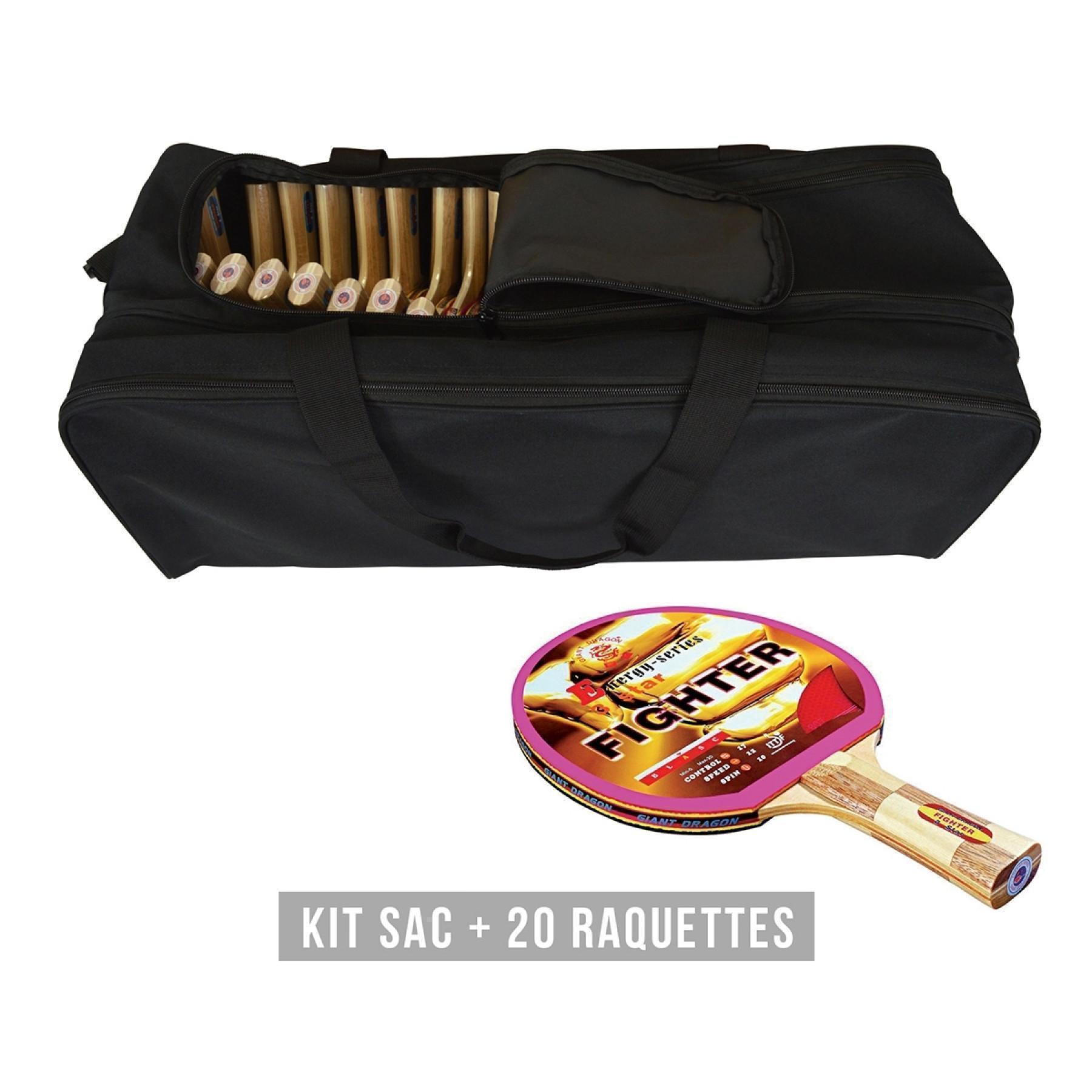 Racket kit (bag + 20 rackets) Sporti France Fighter