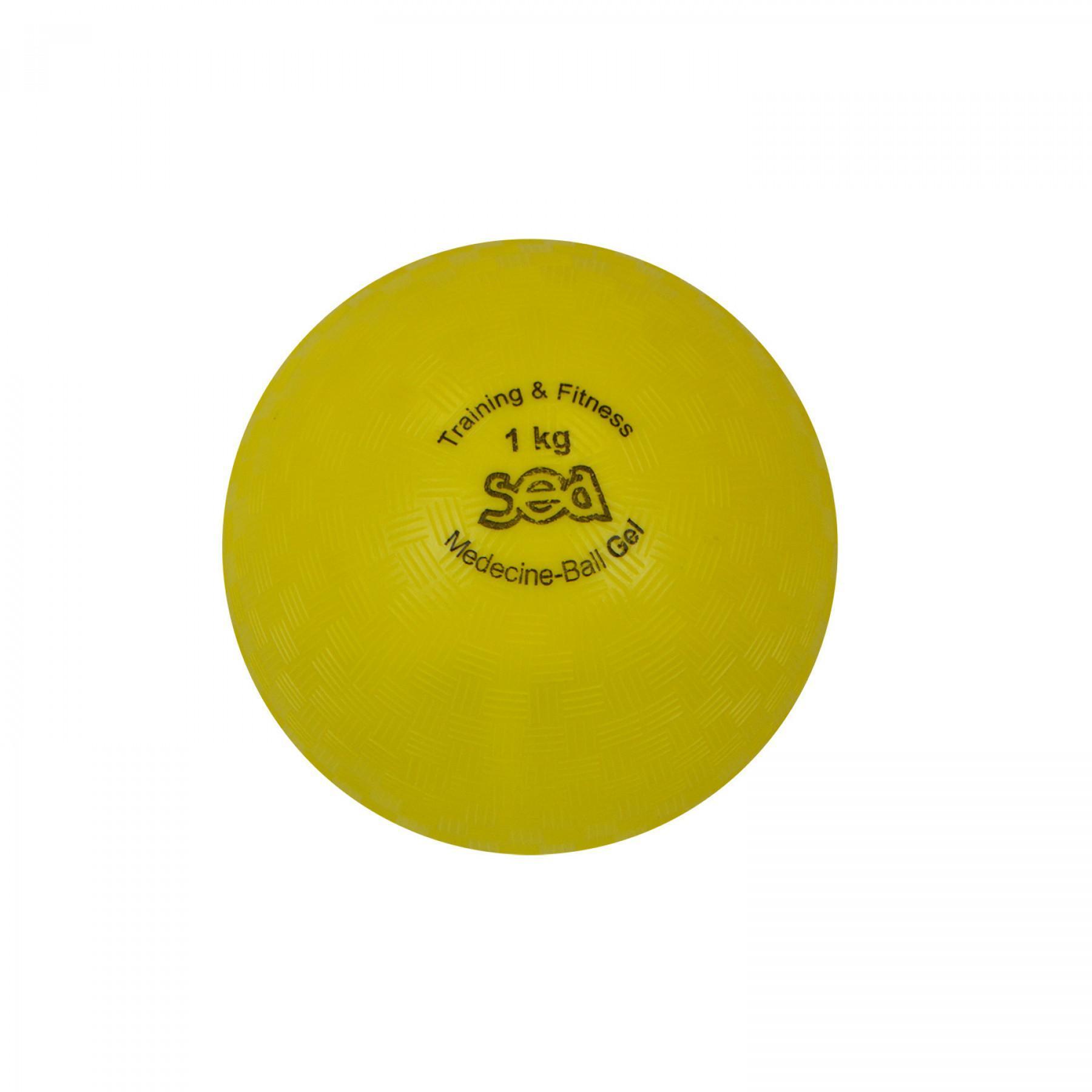 Medicine ball gel 1kg Sporti France Sea