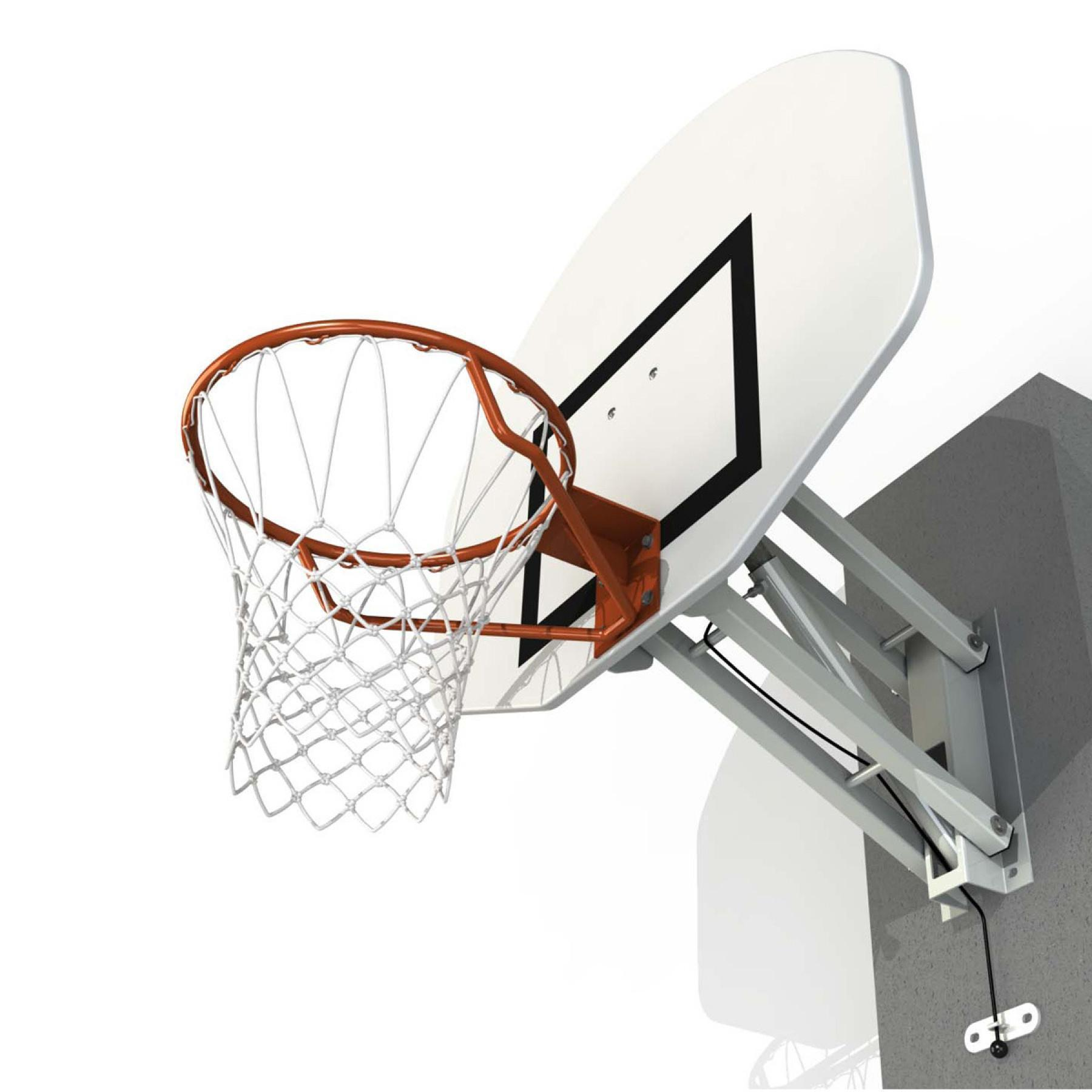 Wall mounted basketball hoop with adjustable height half moon Sporti France