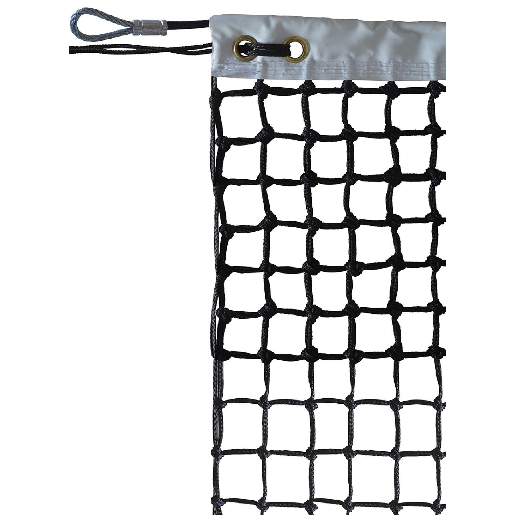 Tennis net roland garros pe braided 3mm mesh 40 doubled on 7 rows Sporti France