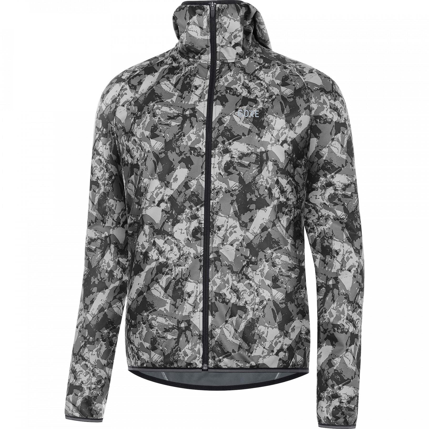 Hooded jacket Gore R3 Windstopper® Camo