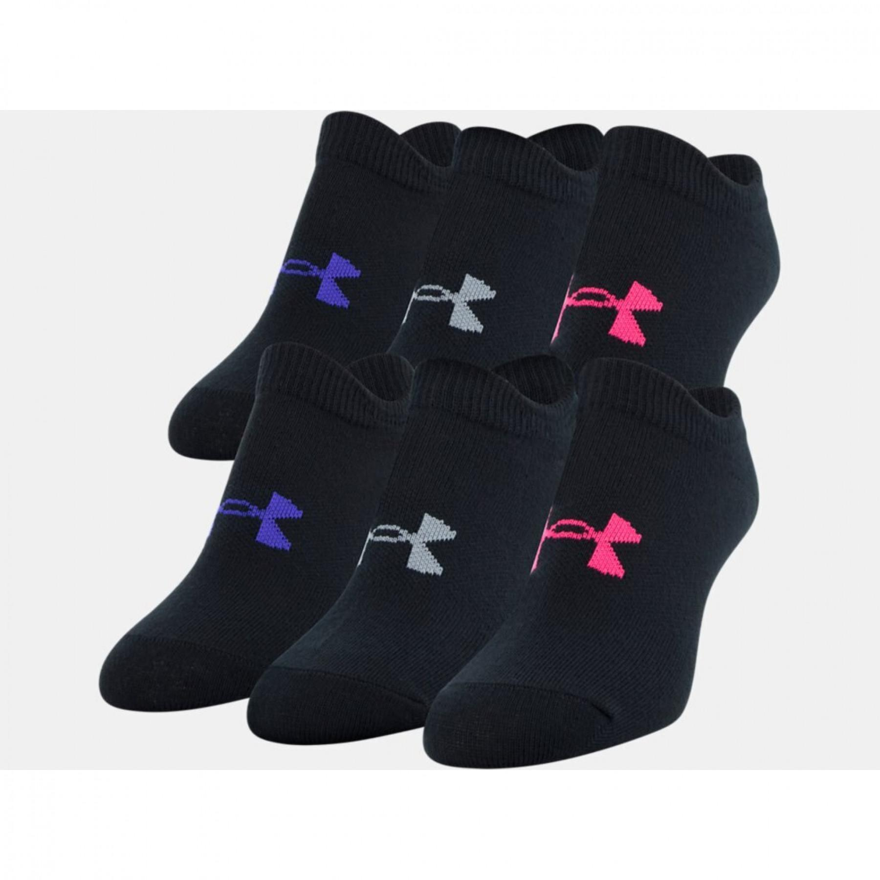 Set of 6 pairs of socks daughter Under Armour Essential No Show