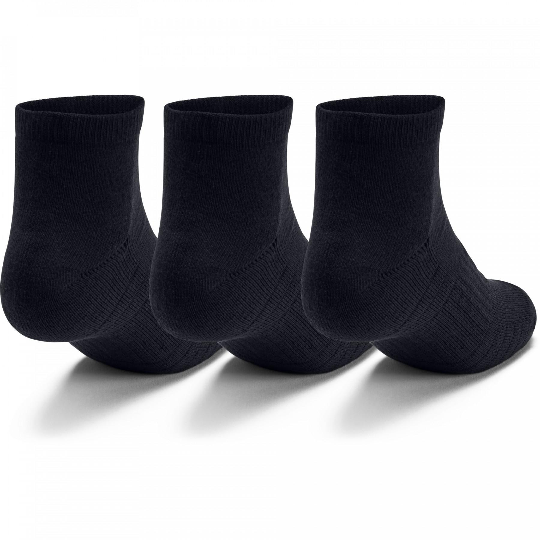 Pack of 3 pairs of low socks Under Armour Training Coton