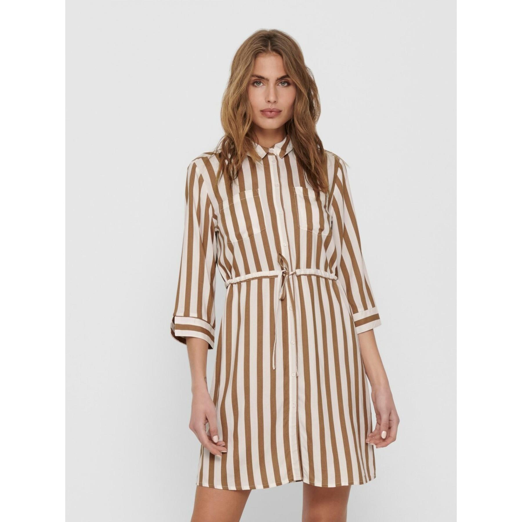 Only Tamari women's shirt dress with 3/4 sleeves