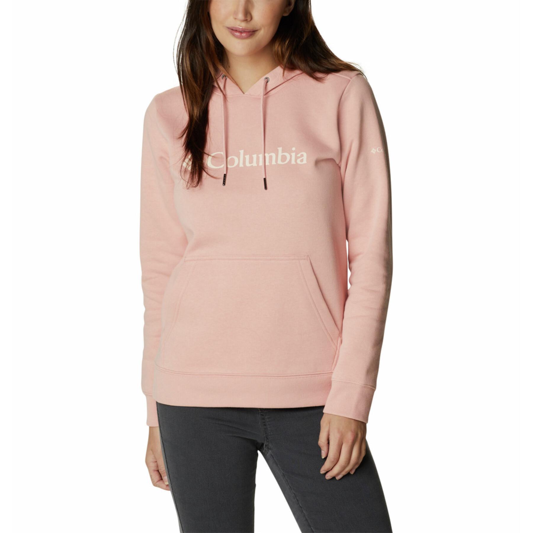 Women's hooded sweatshirt Columbia Logo