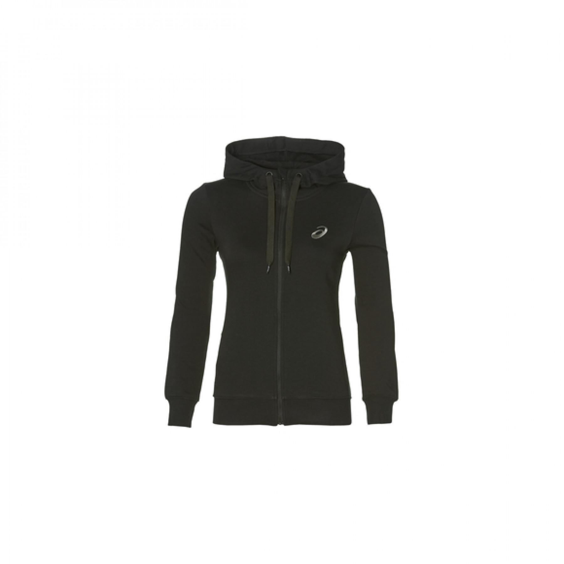 Hooded sweatshirt woman Asics chest logo fz
