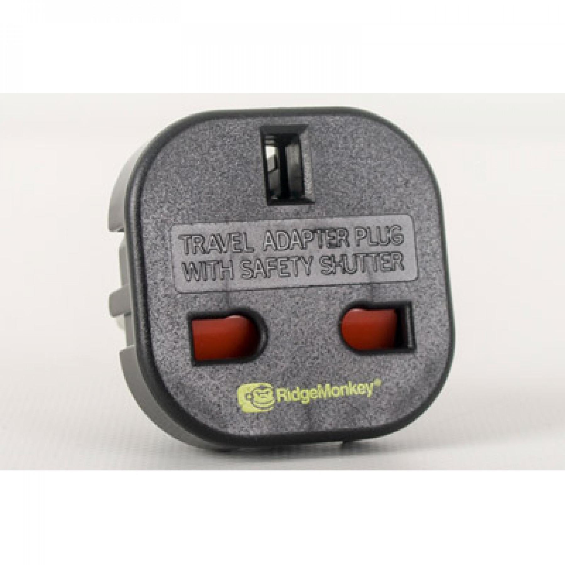 Ridge Monkey Vault UK 3 Pin to EU 2 Pin Adaptor