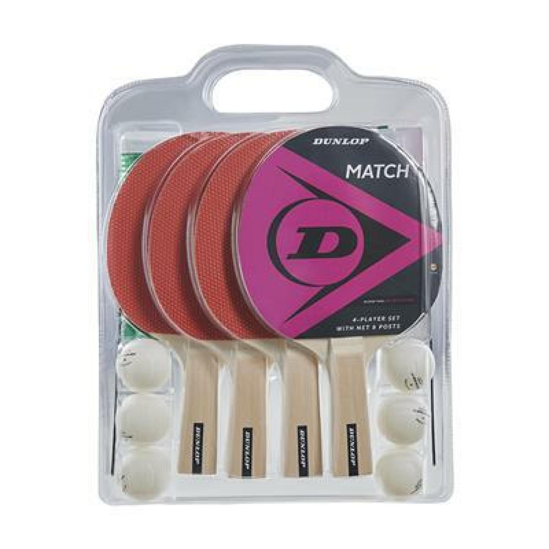 Set of 4 rackets Dunlop