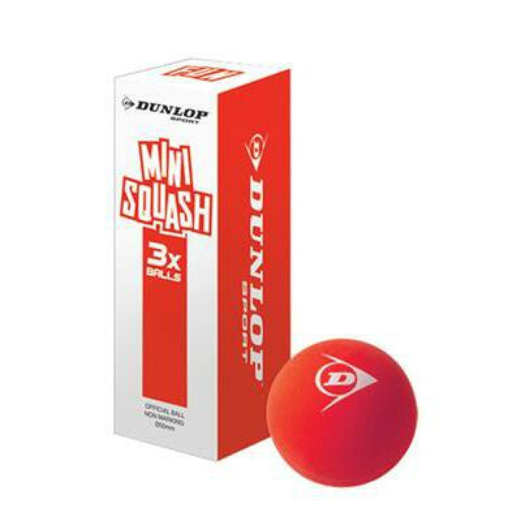 Set of 3 squash balls Dunlop fun