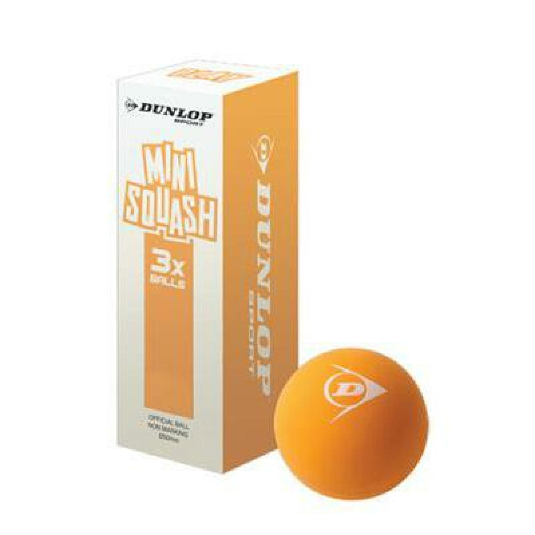 Set of 3 squash balls Dunlop play