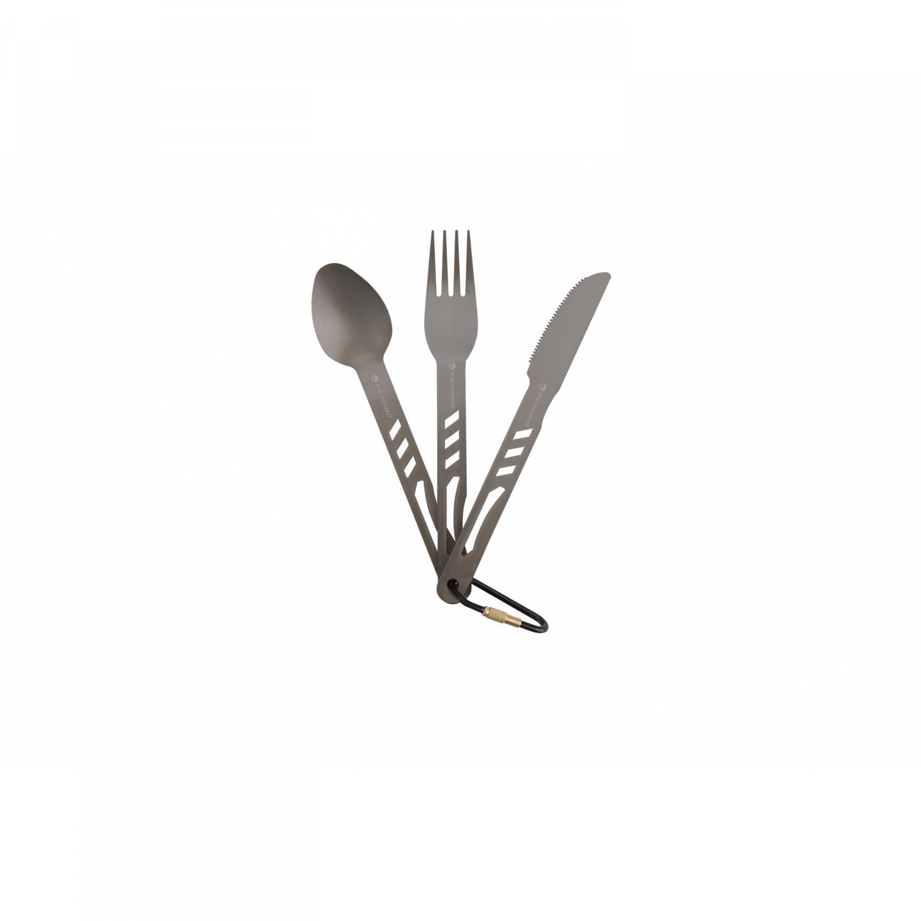 Aluminium cutlery set Ferrino