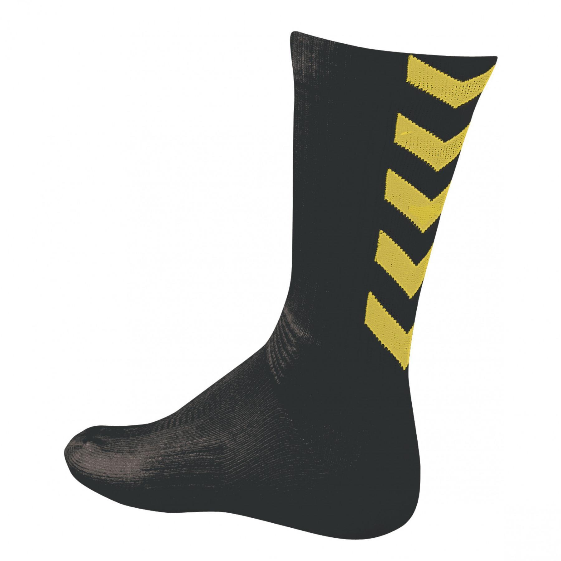 Socks Hummel hmlAUTHENTIC indoor noir/ jaune