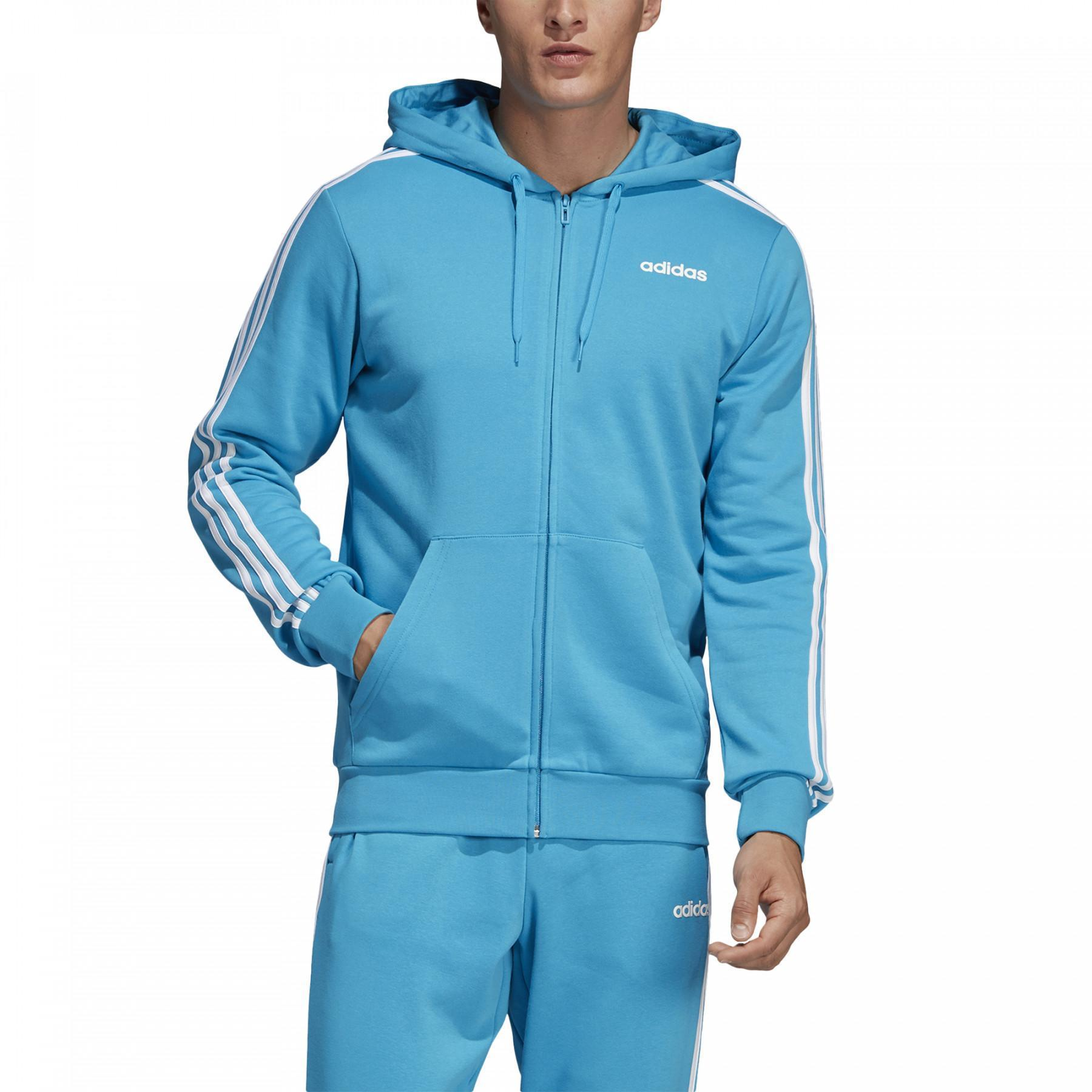 Hooded Jacket adidas Essentials 3-Stripes Fleece