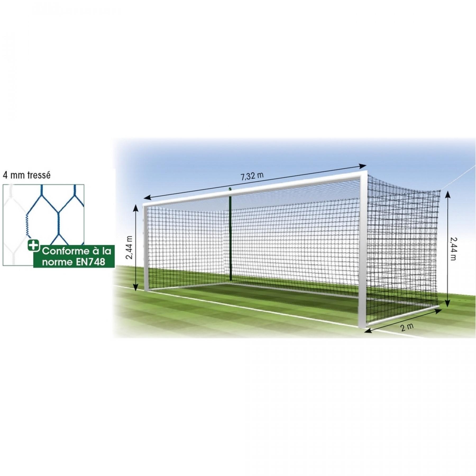 Net European football 4mm hex Tremblay MT 120 (x2)