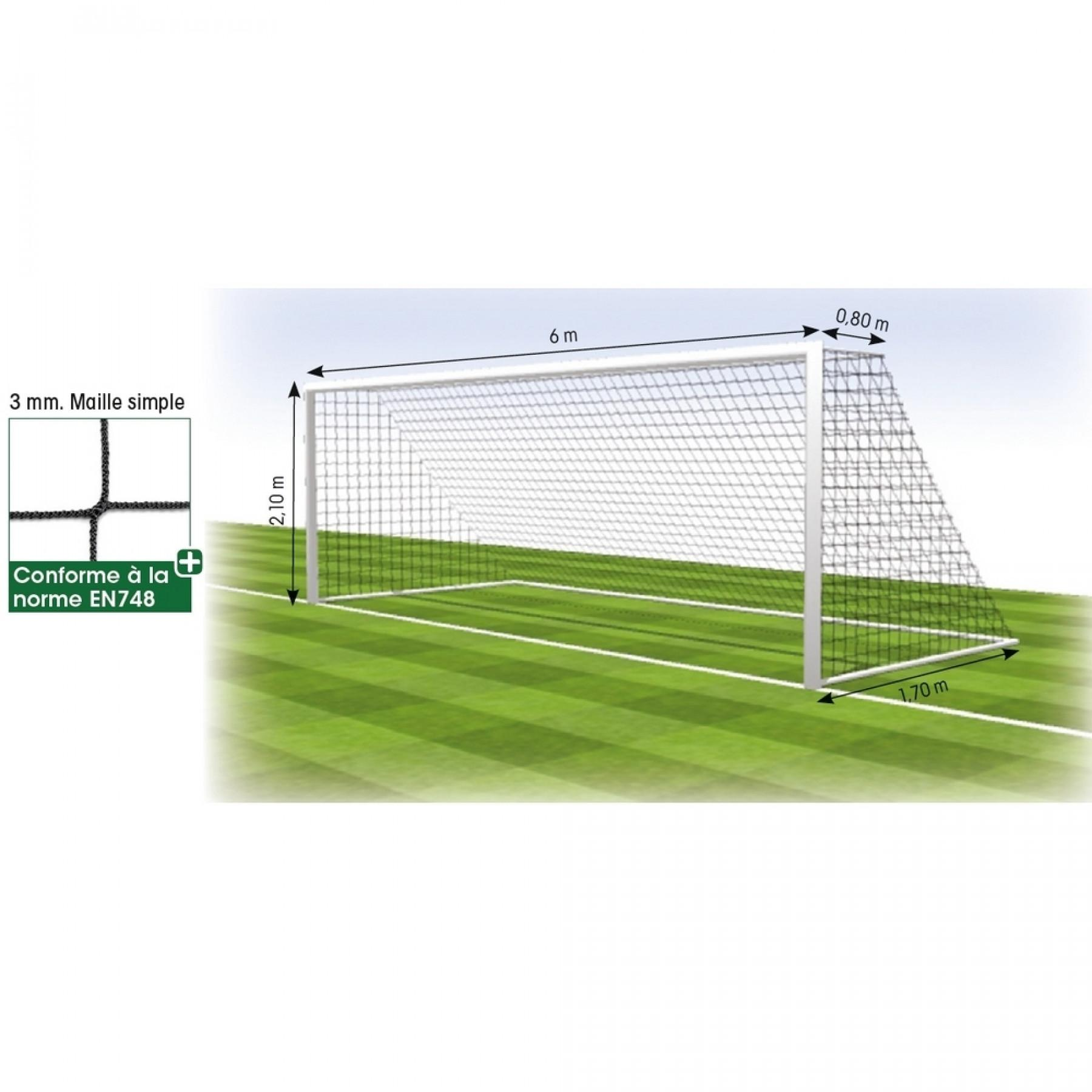Net football goal 8 fixed 3 mm Tremblay MS 120 (x2)