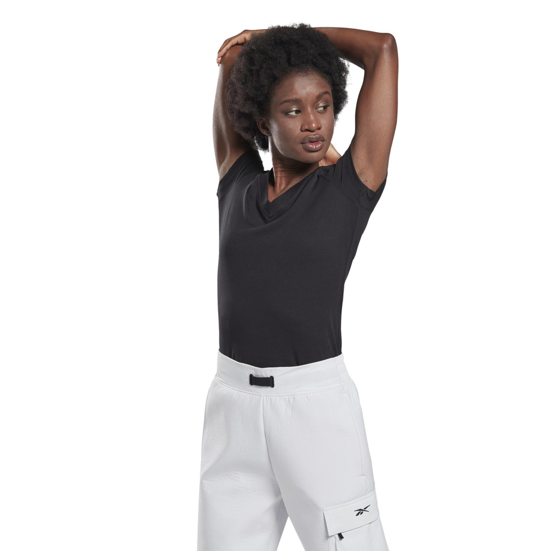 T-shirt woman Reebok GB Cotton V-Neck Vector