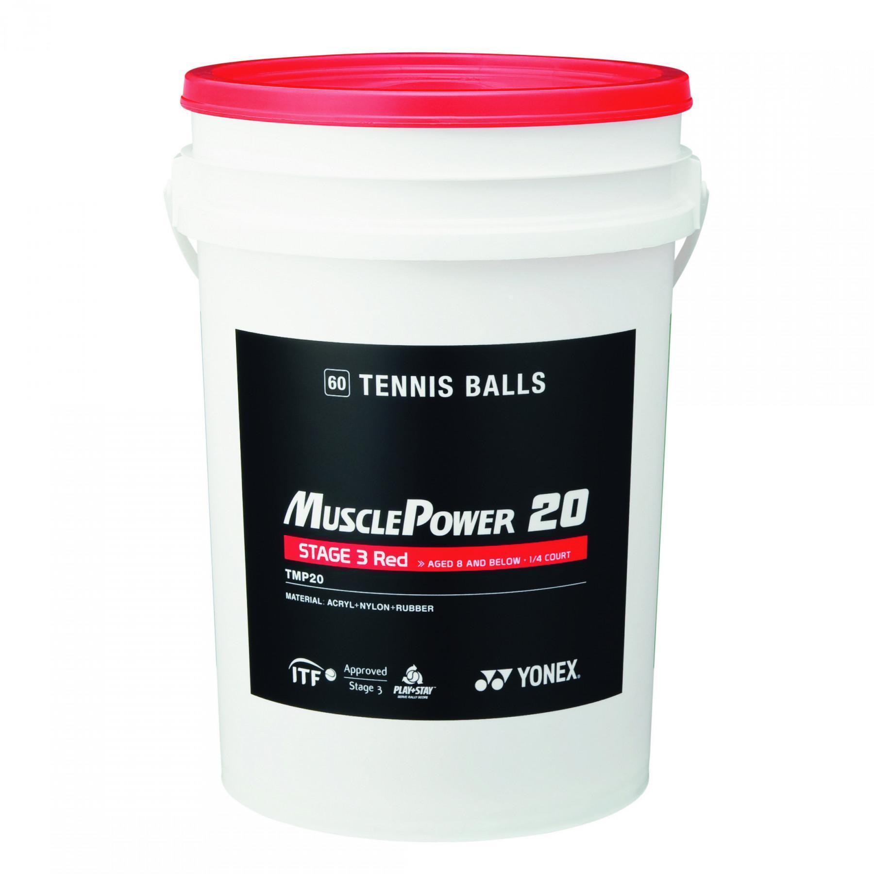 Barrel tennis balls Yonex TMP-20 x60