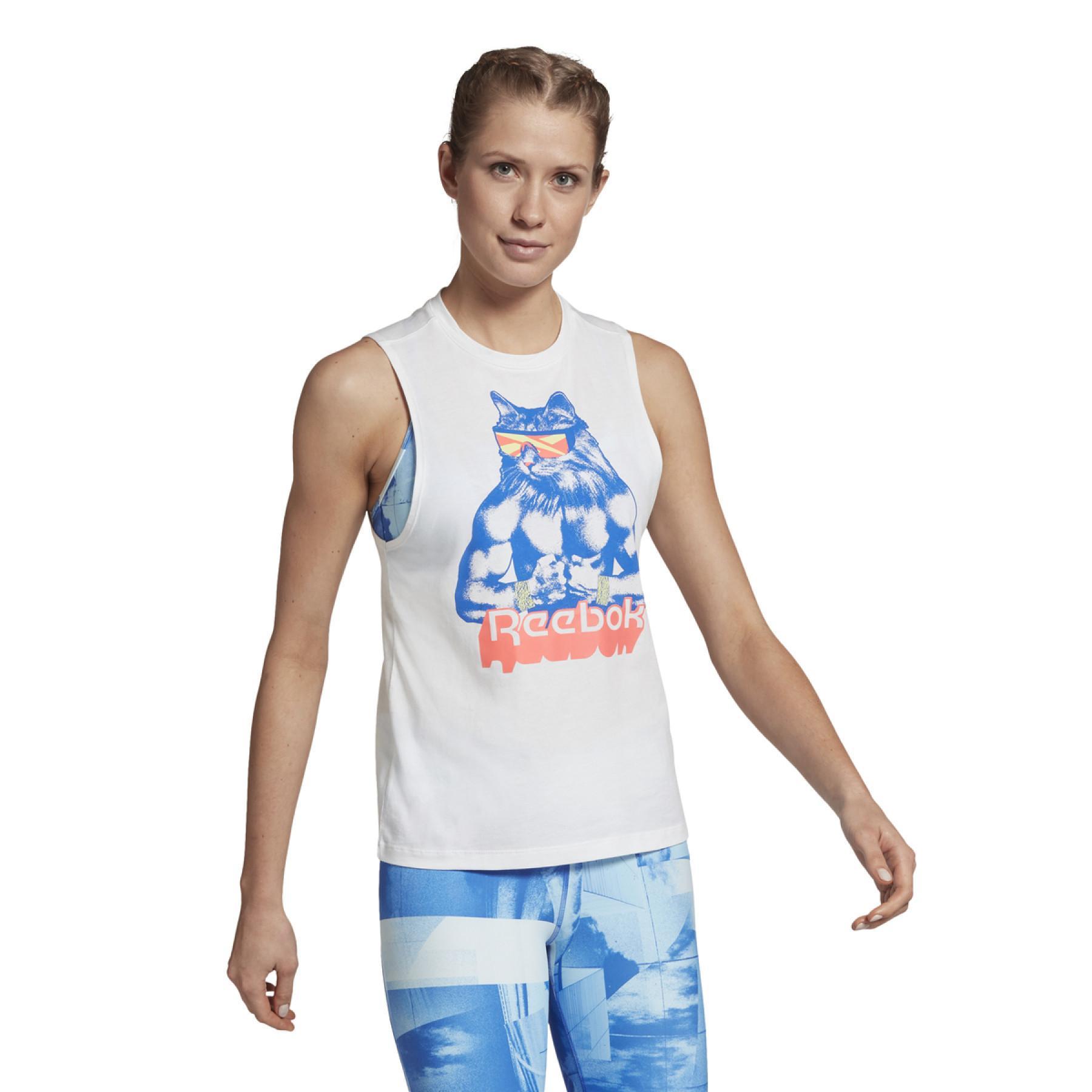 Reebok Gritty Kitty Tank Top woman's T-shirt