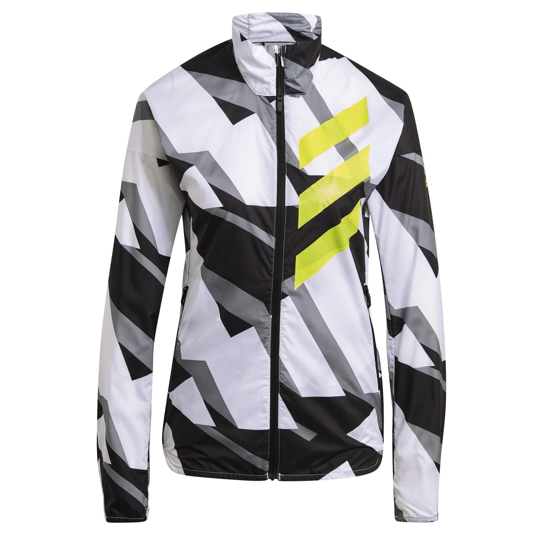 Women's windbreaker jacket adidas Terrex Parley Agravic Trail Running