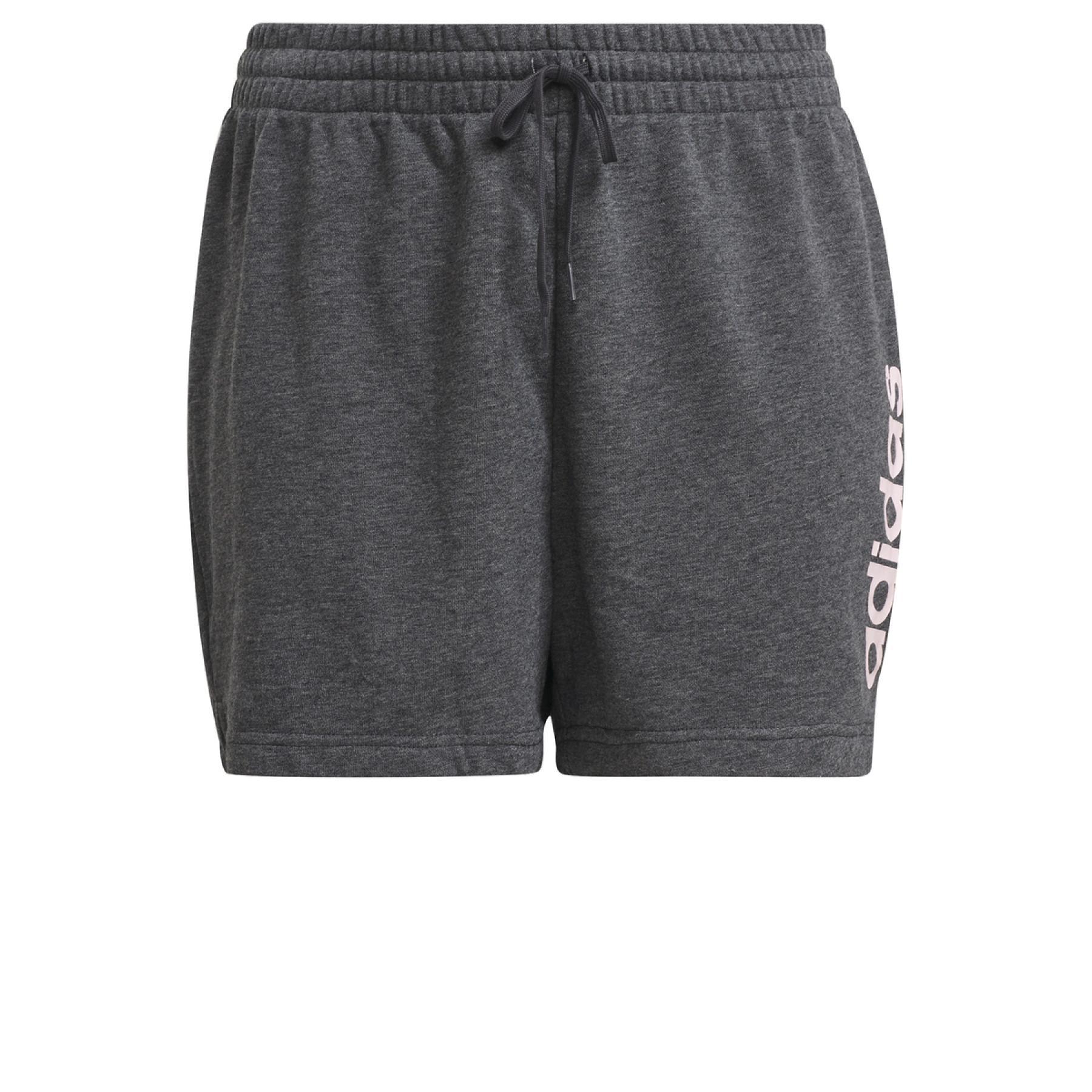 adidas Women's Essential Slim Logo Shorts Large Size