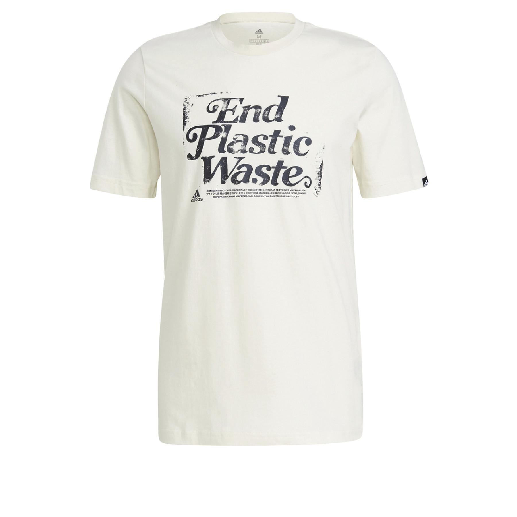 adidas Slogan Recycled Cotton Graphic T-Shirt
