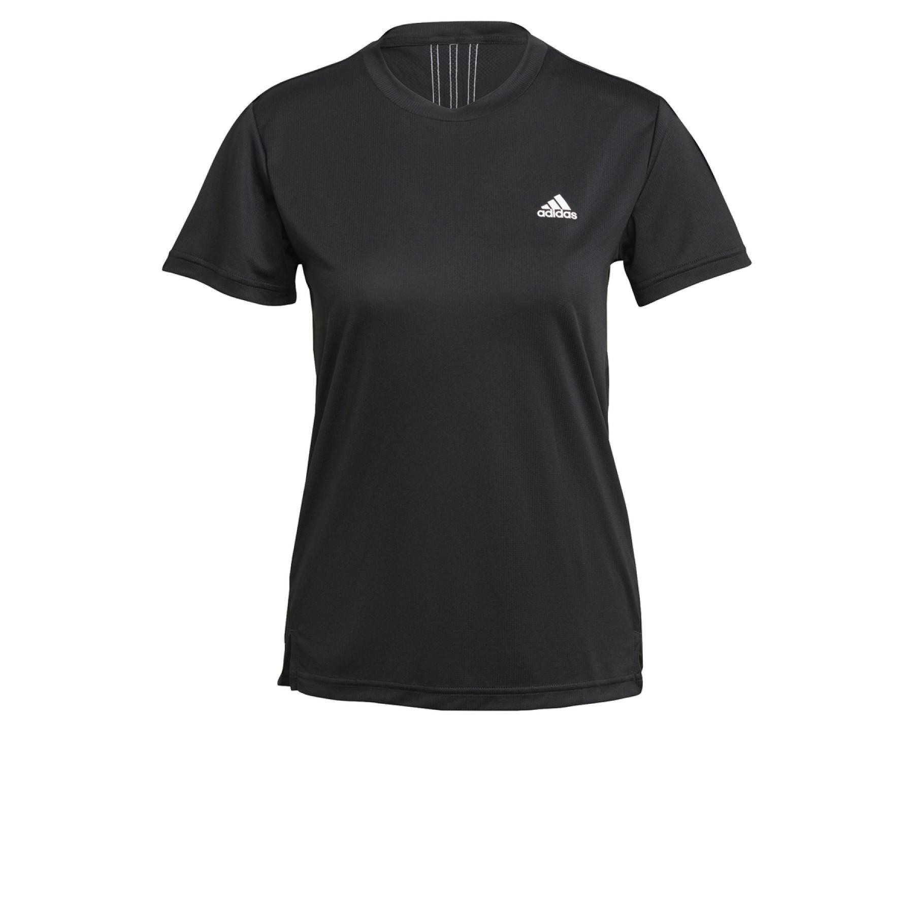 adidas Women's T-Shirt Aeroready Designed 2 Move 3-Stripes Sport