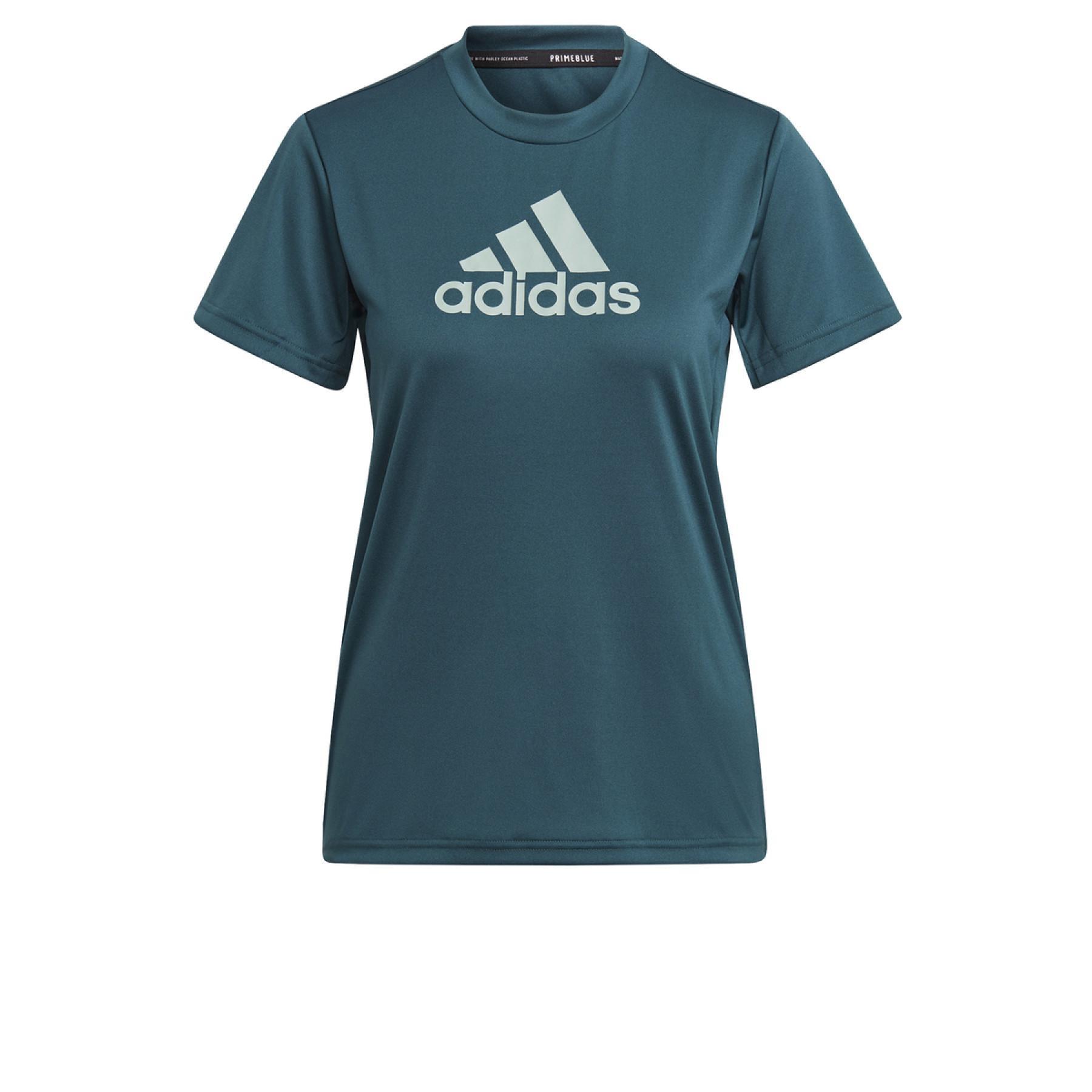 adidas Women's T-Shirt Primeblue Designed 2 Move Sport Logo