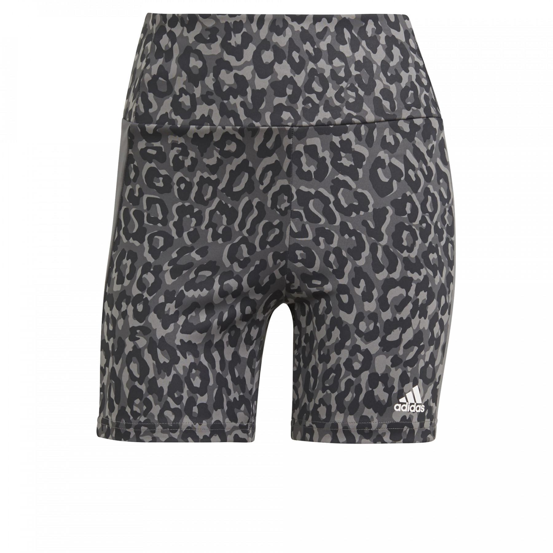 adidas Women's Cyclist Designed To Move Aeoready Leopard Print