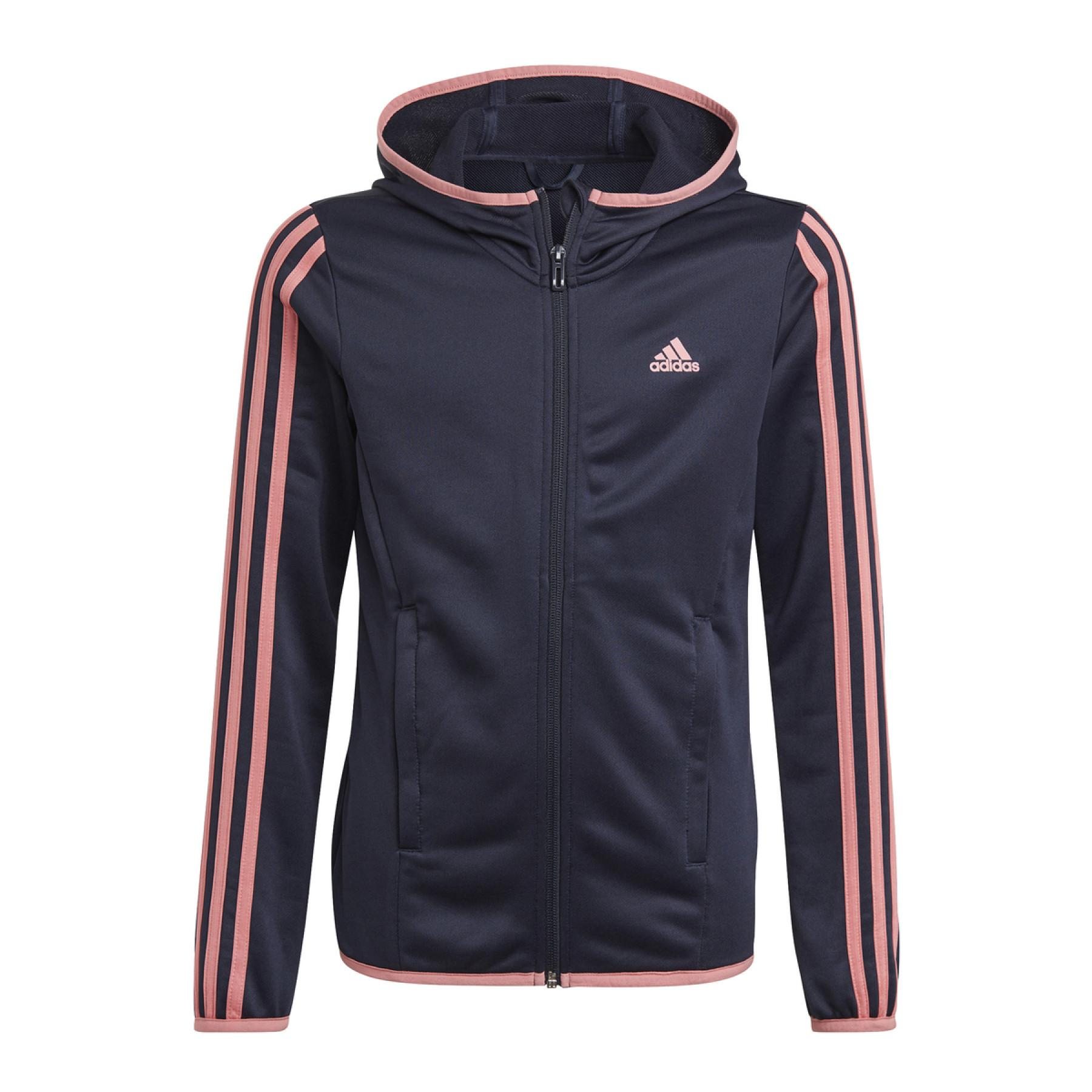 adidas Designed To Move 3-Stripes Children's Zip Up Hoody