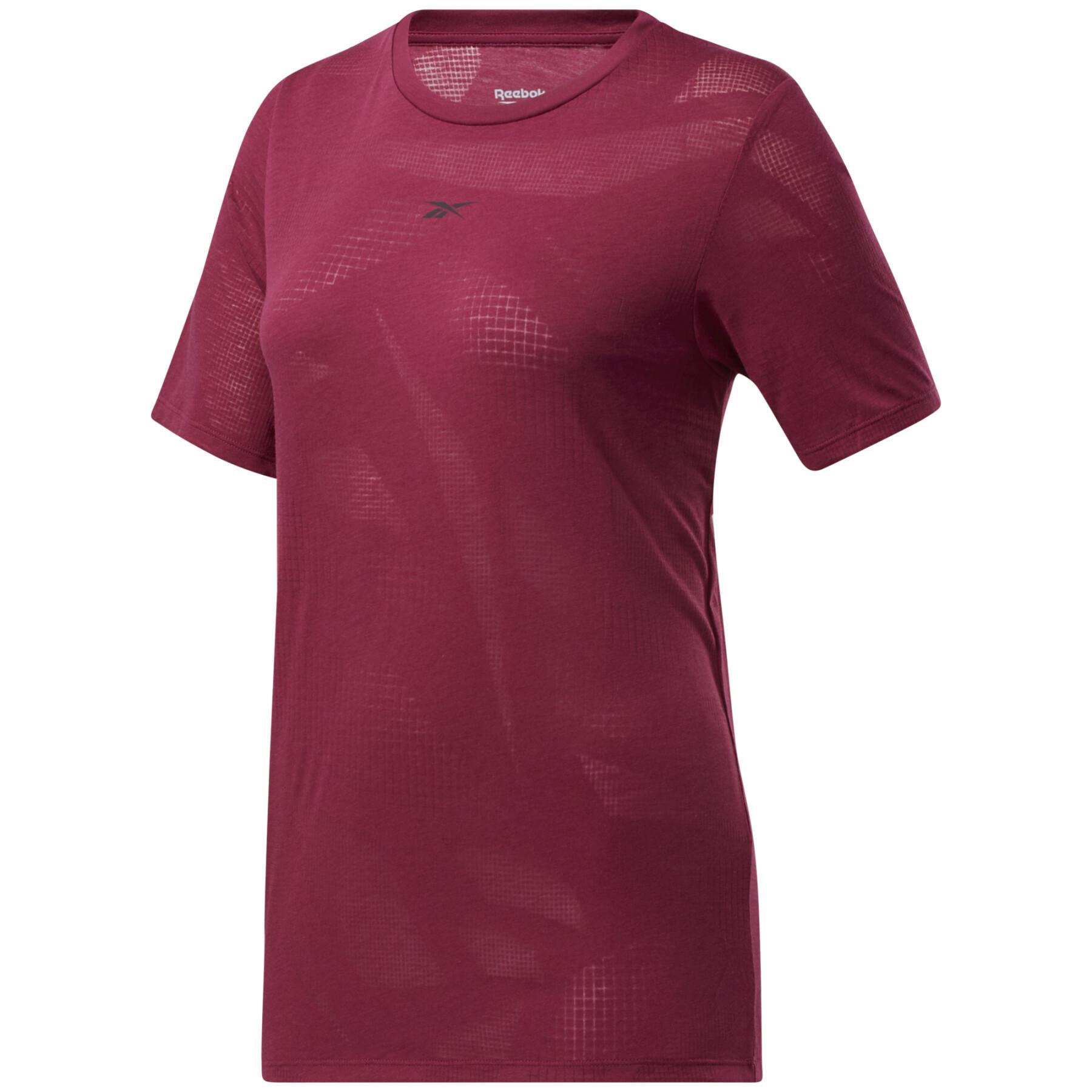 Women's semi-openworked T-shirt Reebok