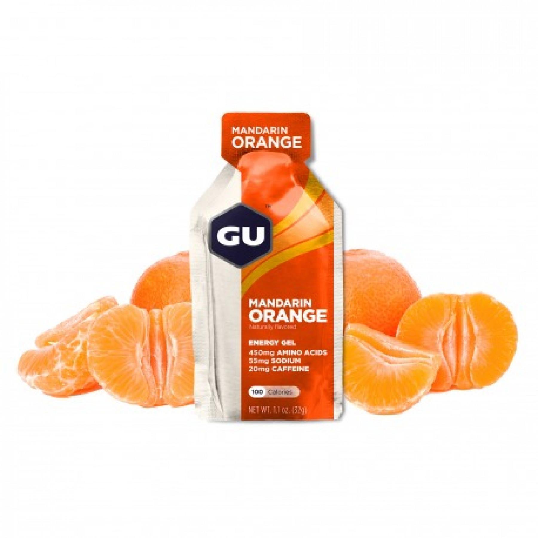 Batch of 24 gels Gu Energy mandarine/orange