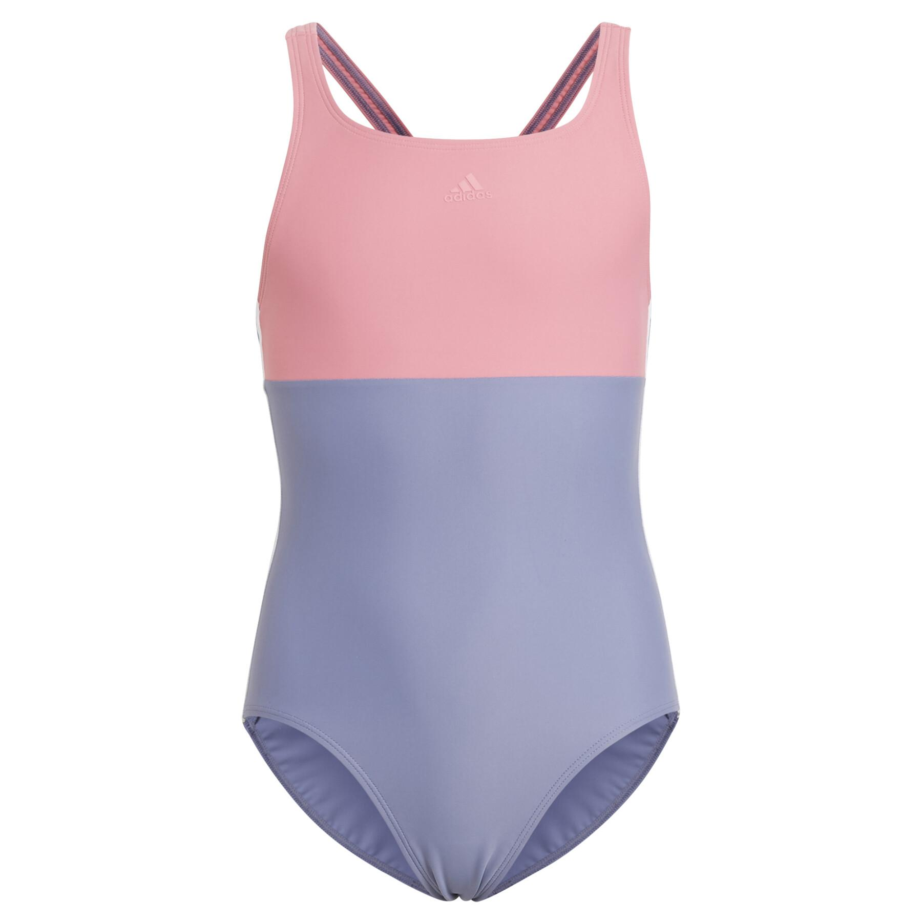 Girl's swimsuit adidas Colorblock 3-Stripes
