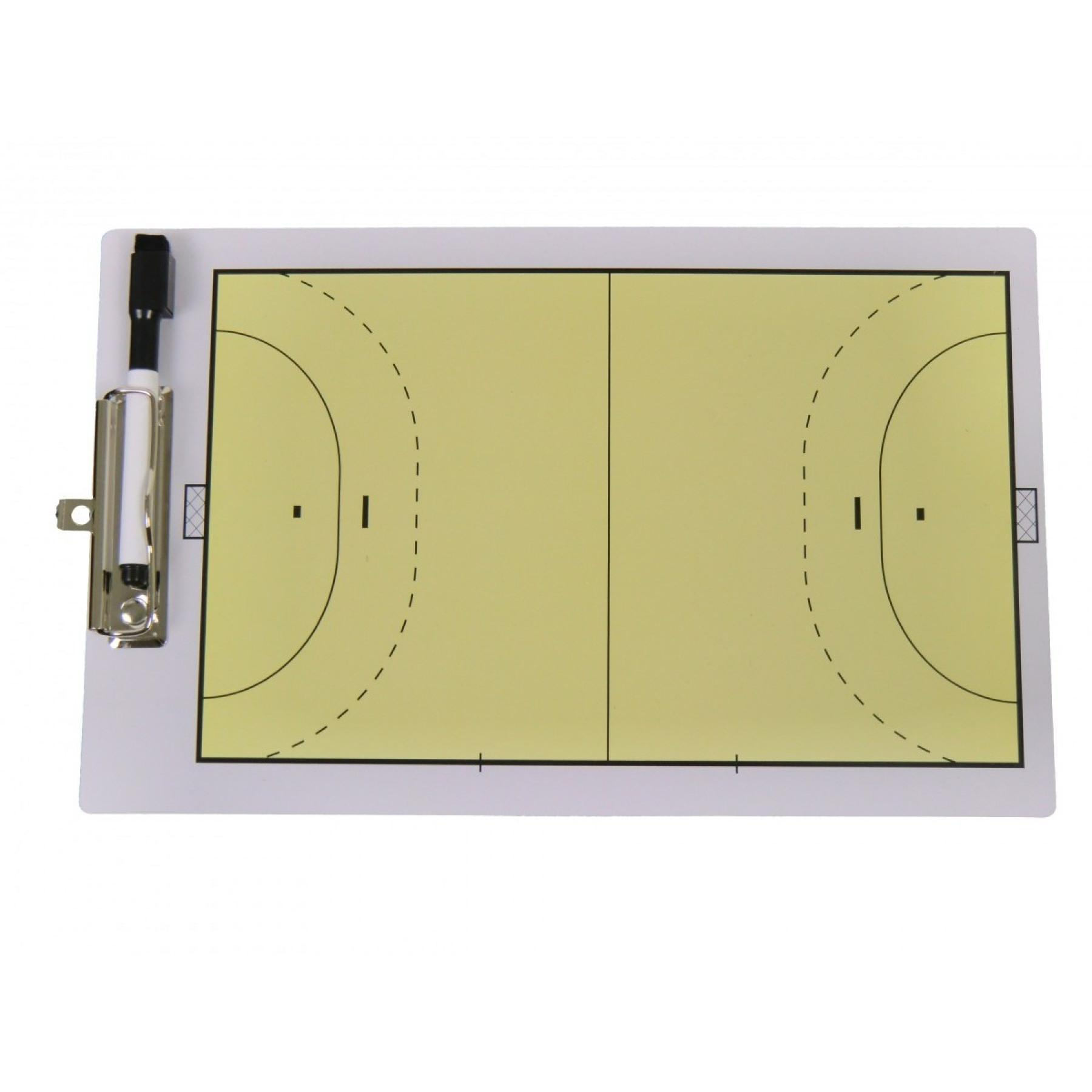 Handball two-sided tactical notebook