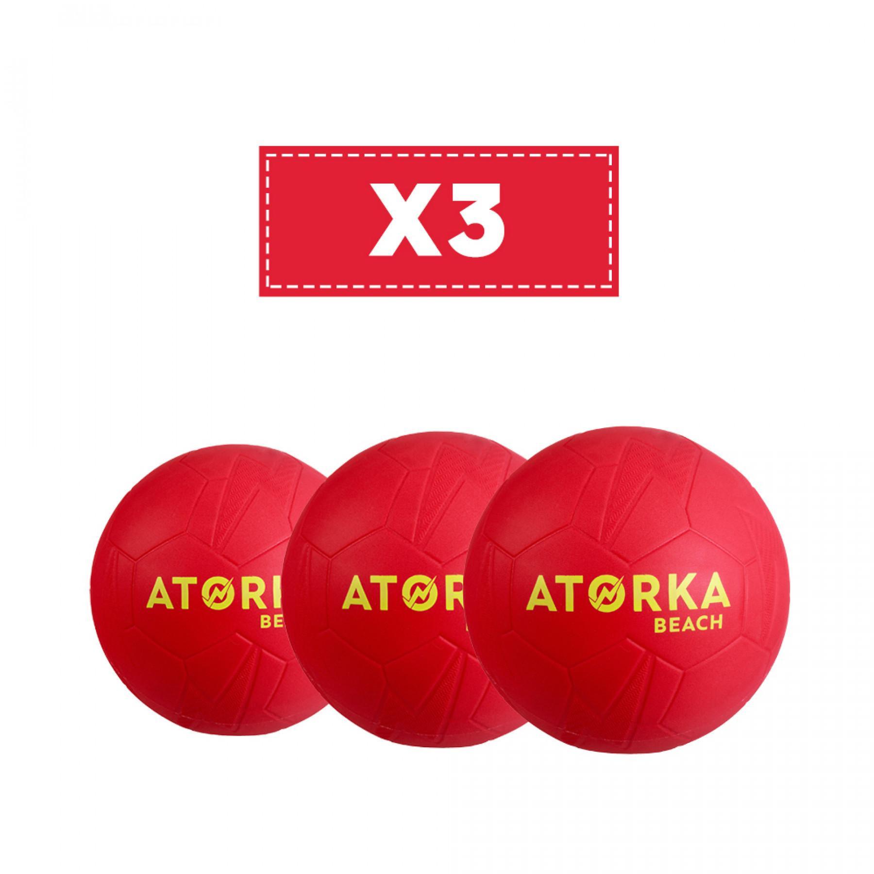 Set of 3 beach handballs Atorka HB500B
