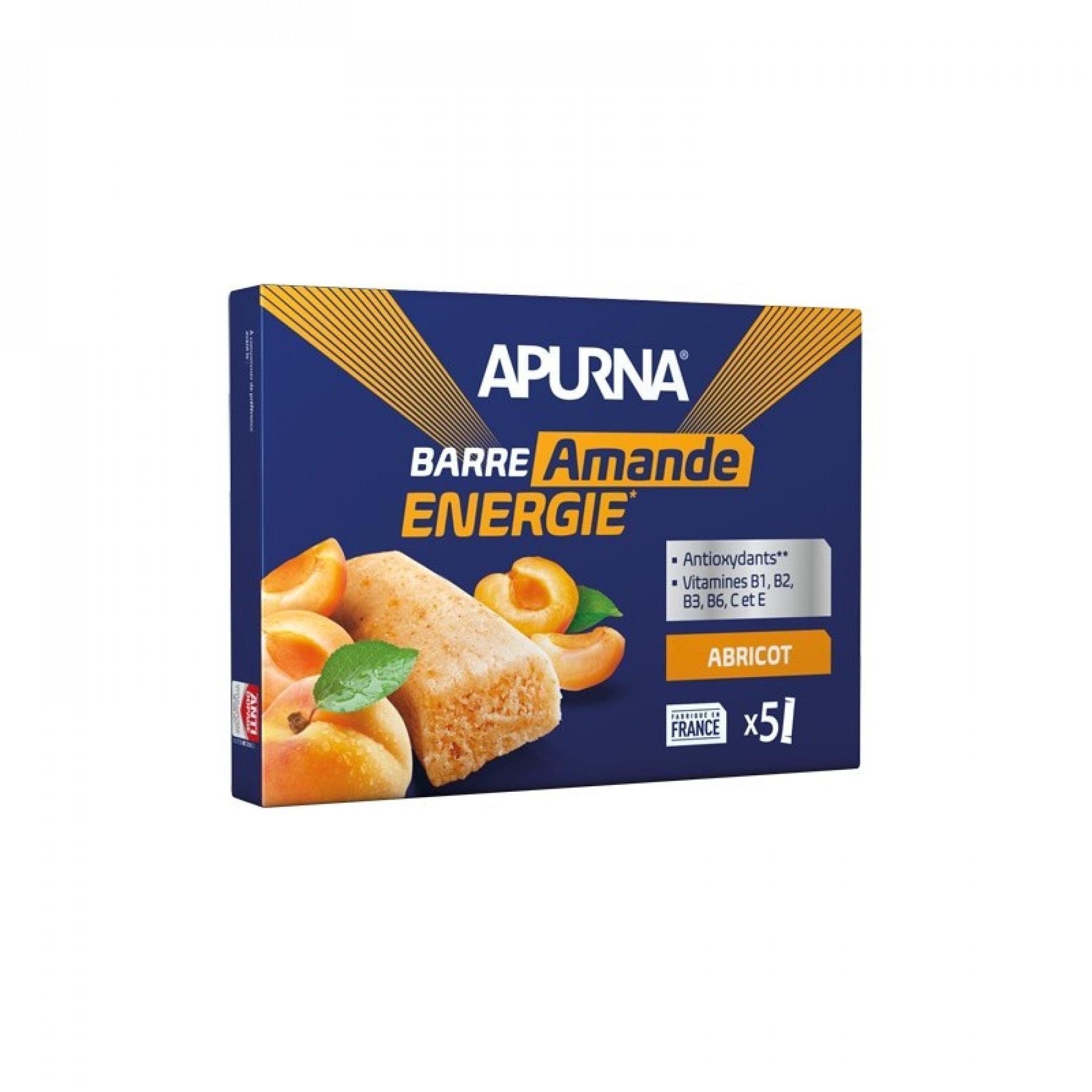 Set of 5 bars fondant Apurna Apricot / Almond