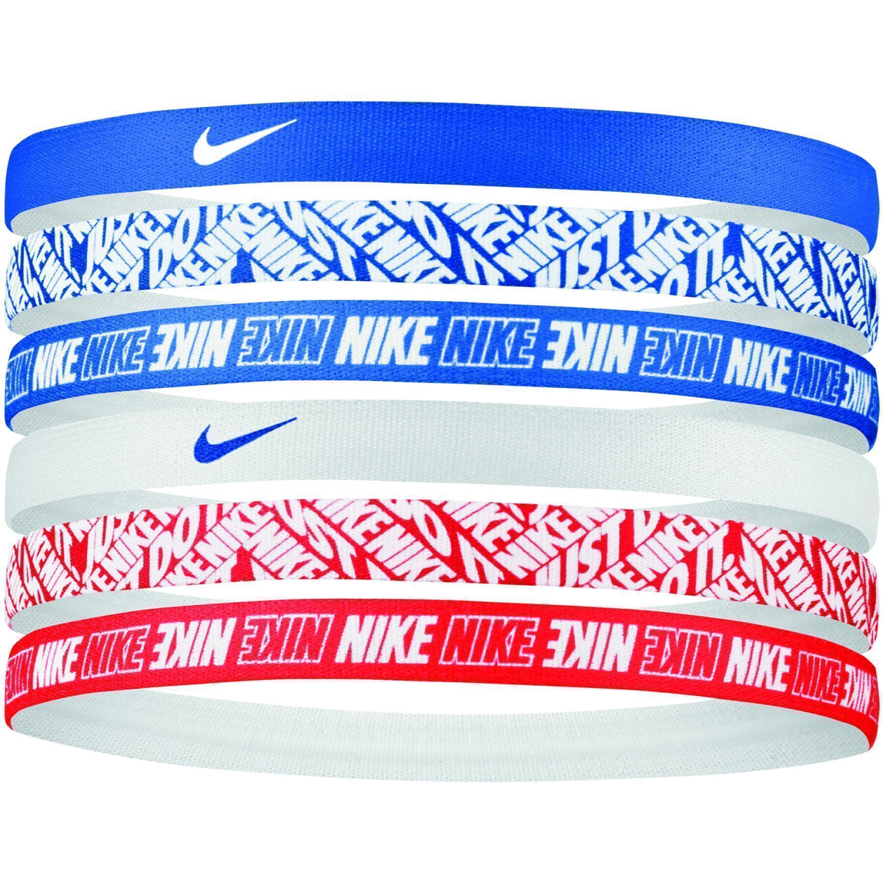 Set of 6 headbands Nike