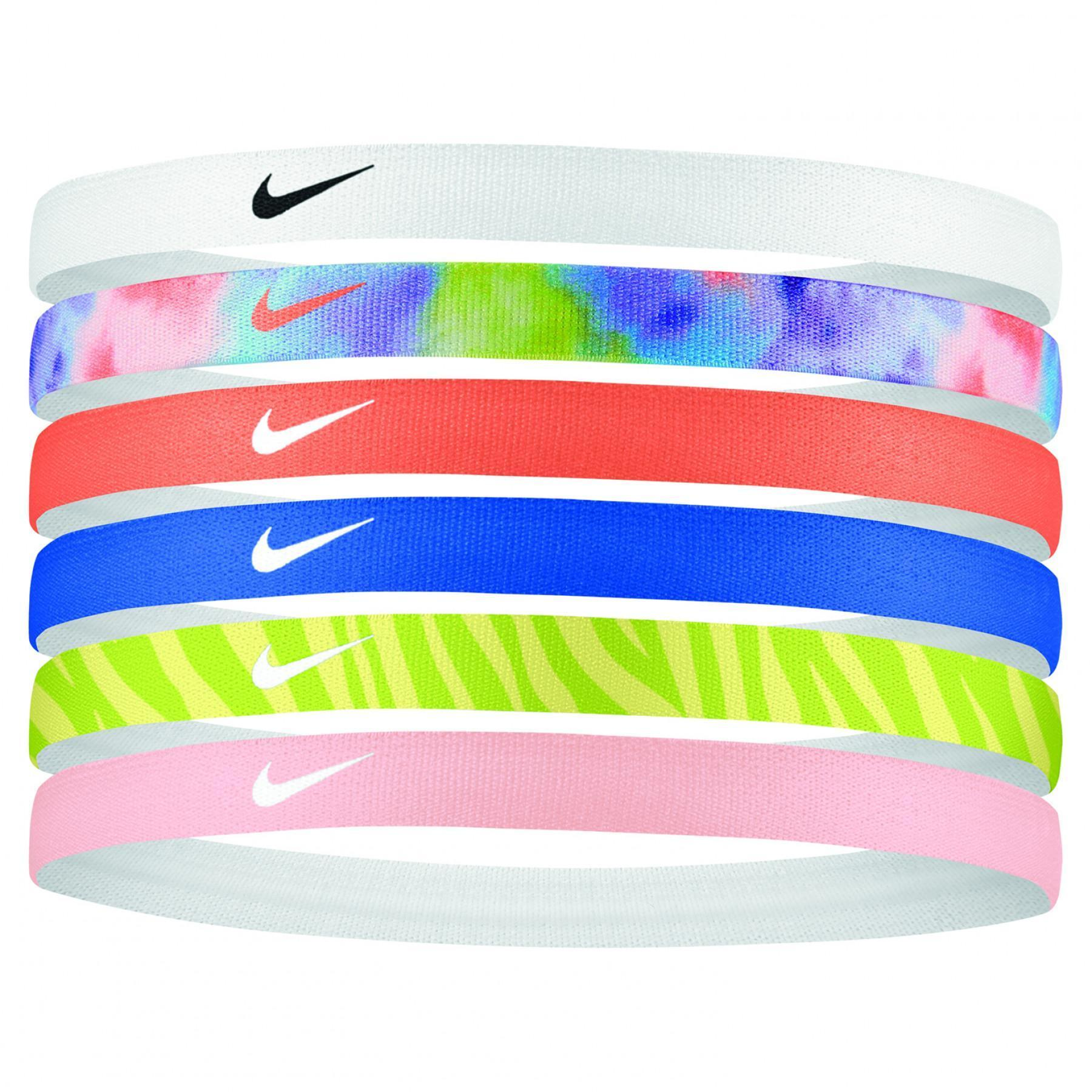 Pack of 6 Nike rubber bands