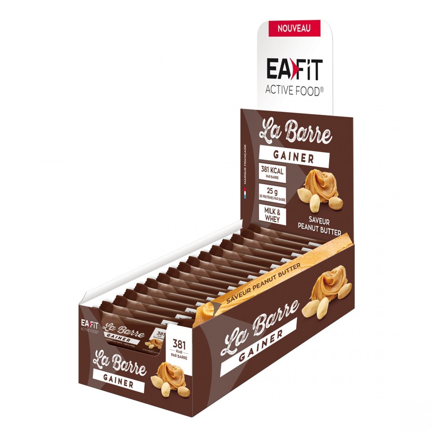 Barre gainer EA Fit x16 Beurre de cacahuète