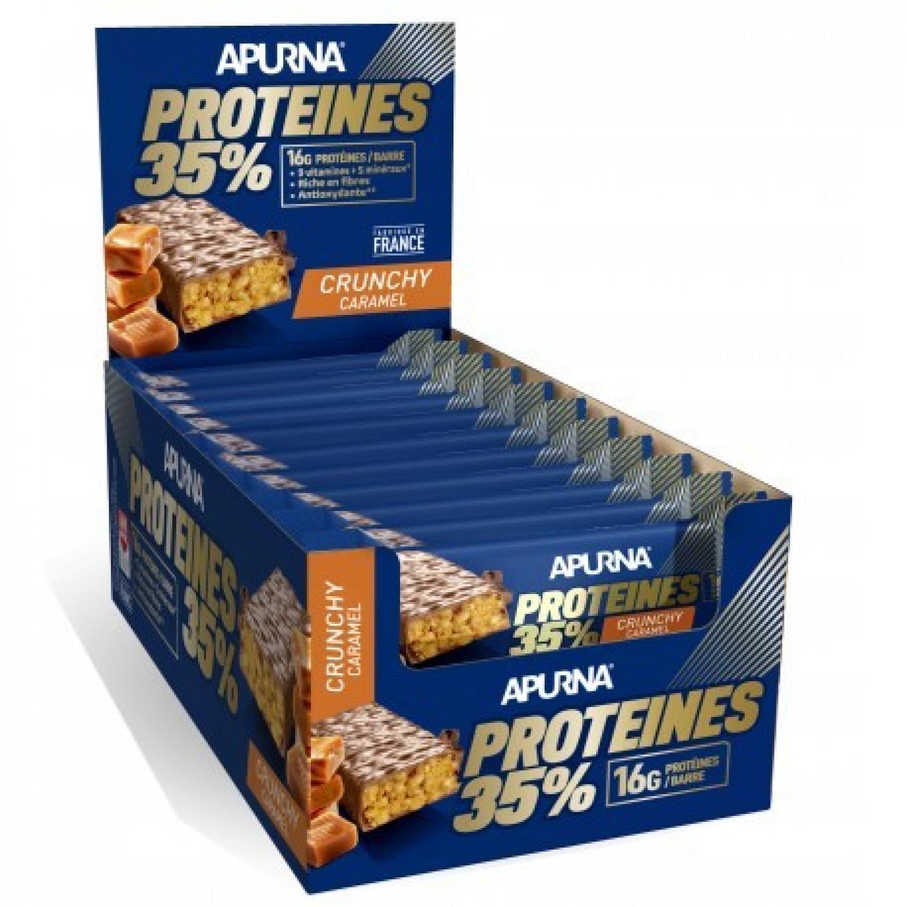 Pack of 20 bars Apurna HP Crunchy Caramel-Chocolat