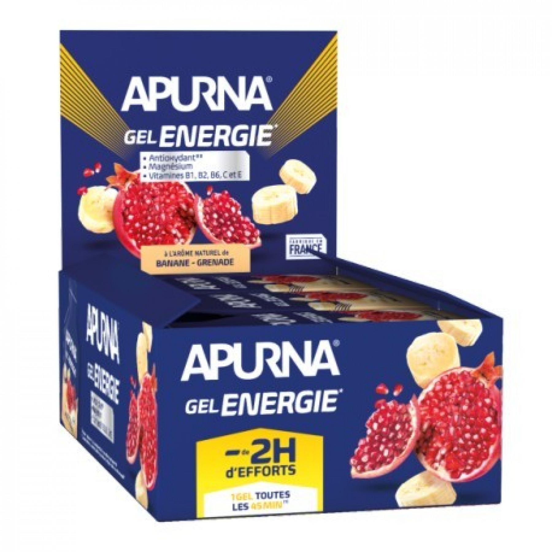 Lot of 24 gels Apurna Energy banana grenade - 35g