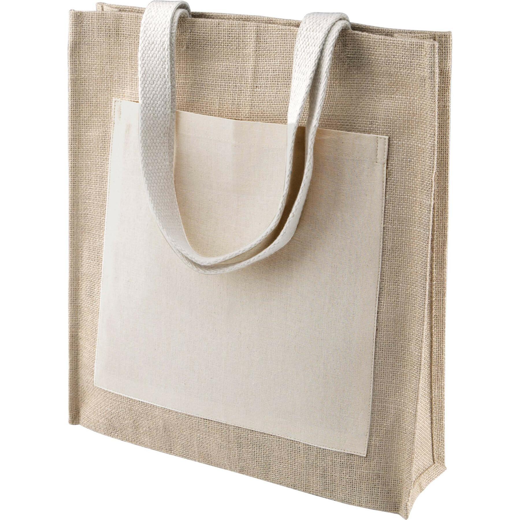 Bag Kimood Shopping Toile de Jute blanc