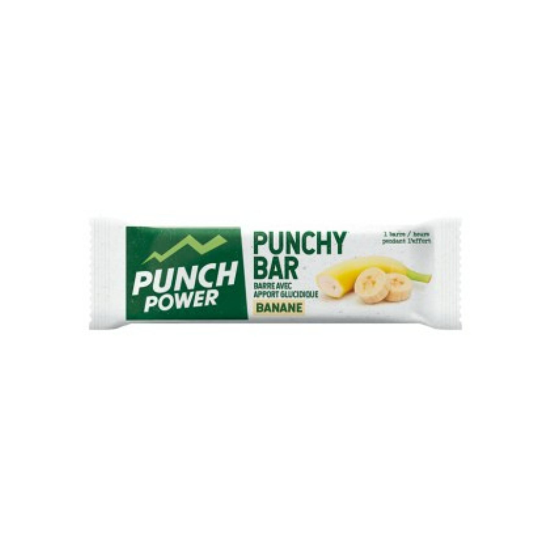 Display 40 energy bars Punch Power Punchybar Banane