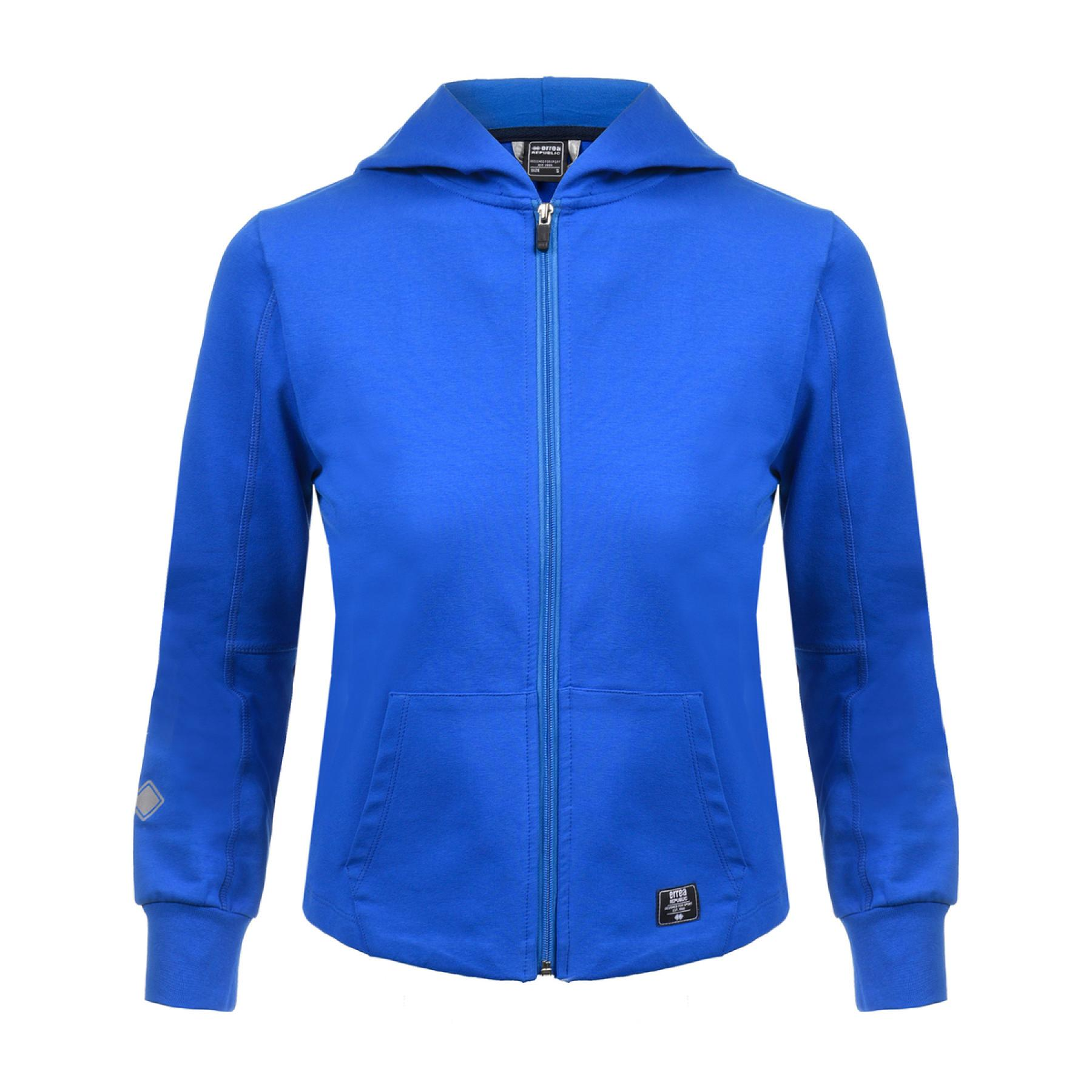 Full zip jacket woman Errea contemporary fleece