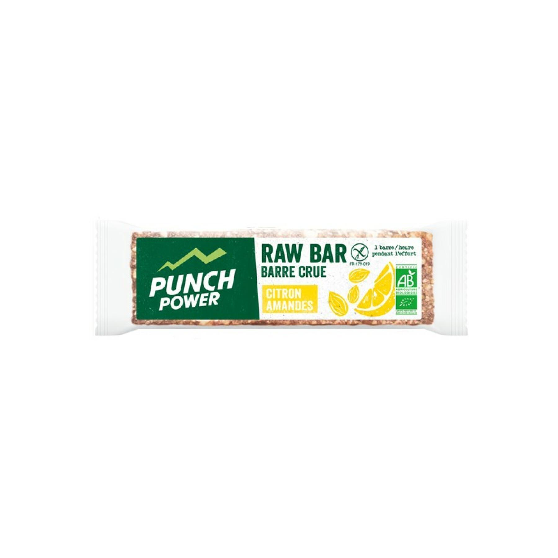 Display 20 energy bars Punch Power Rawbar Citron amande