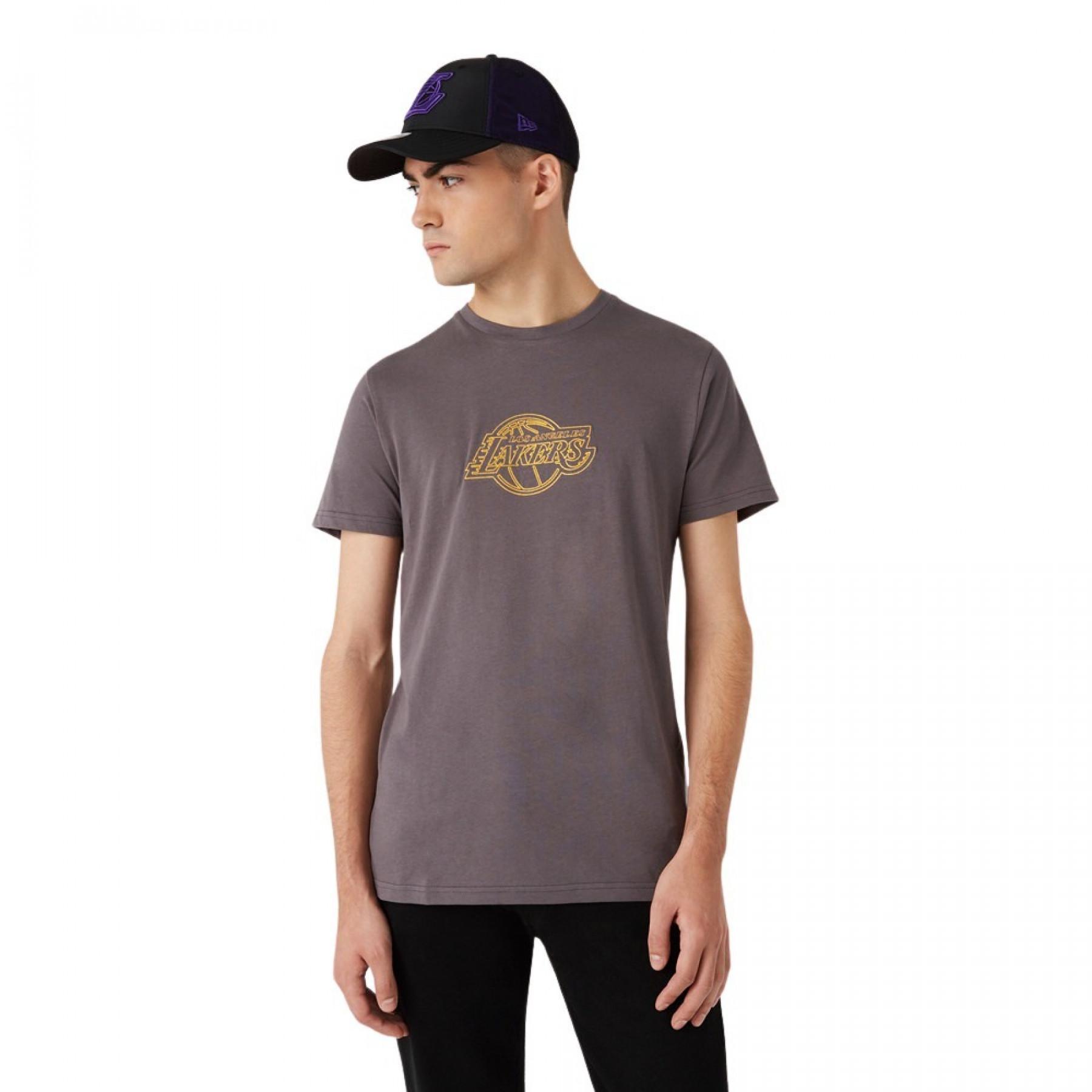 New Era Coastal Heat Infill Los Angeles Lakers T-shirt