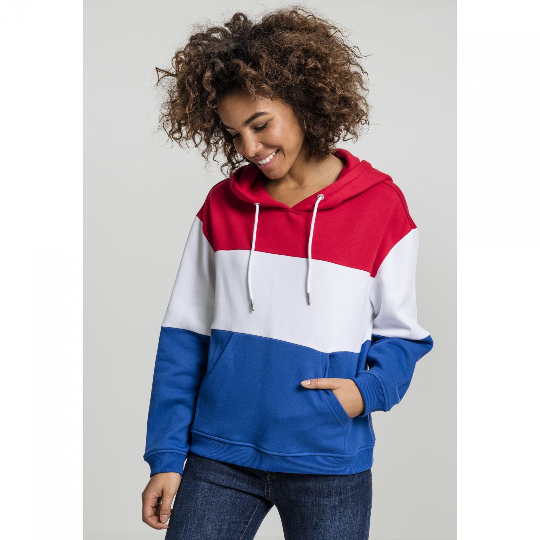 Sweatshirt woman Urban Classic Oversized 3-tone