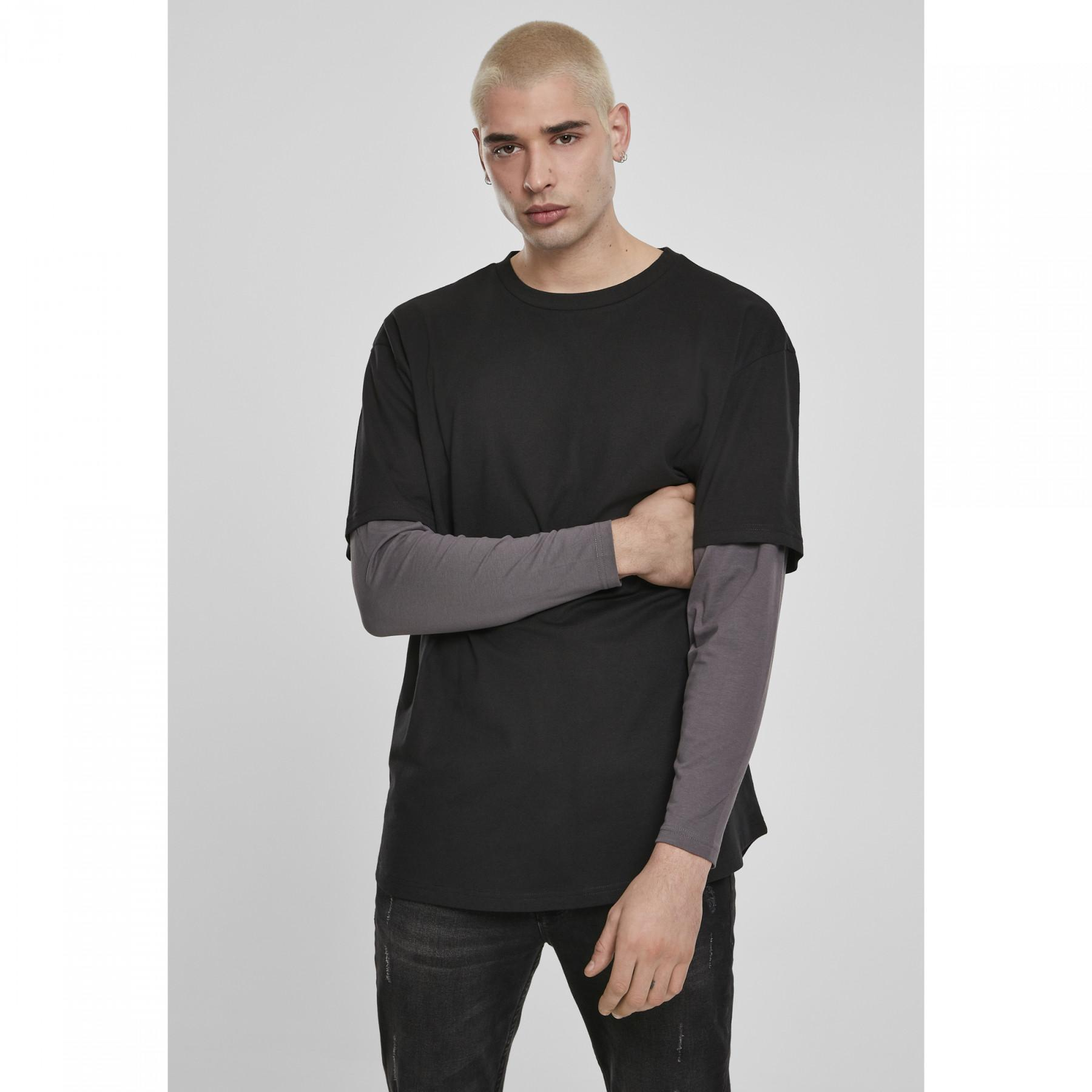 Urban Classic Oversized shaped double layer T-shirt